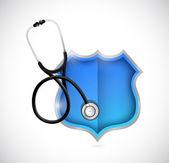 Medical shield illustration design — Stock Photo