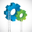 Stock fotografie: Gear and ladder illustration design