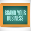 Stock fotografie: Brand your business illustration design