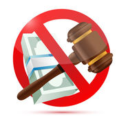 No money and law concept illustration — Stock Photo