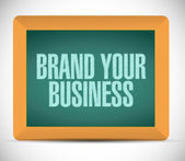 Brand your business illustration design — Stock Photo