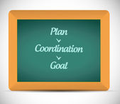 Planing diagram illustration design — Zdjęcie stockowe