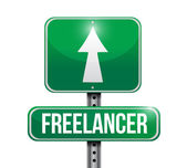 Freelancer sign illustration design — ストック写真