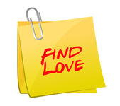 Find love post illustration design — Stock Photo