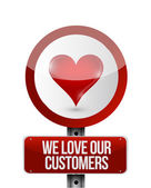 We love our customers illustration design — Stock Photo