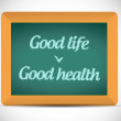 Good life, good health chalkboard illustration — Stock Photo #40326143