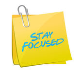 Stay focused post message illustration design — Stock Photo