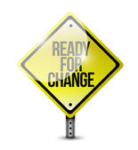Ready for change sign illustration design — Stock Photo