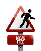 Break free sign illustration design — Stock Photo