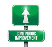 Continuous improvement sign illustration design — Stock Photo