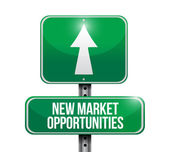 New market opportunities sign illustration design — Stock Photo