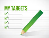 My targets check list illustration design — Stock Photo