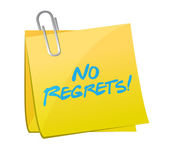 No regrets post message illustration design — Stock Photo