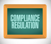 Compliance regulation message illustration design — Stock Photo