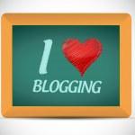 I love blogging written on a chalkboard. — Stock Photo #40820117