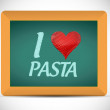 Stock Photo: I love pastwritten on chalkboard. illustration