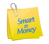 Smart equals money post message — Stock Photo
