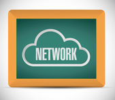 Cloud network sign on a blackboard. illustration — Stock Photo