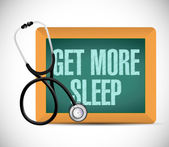 Get more sleep sign on a blackboard. illustration — Stock Photo