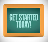 Get started today sign on a blackboard. — Stock Photo