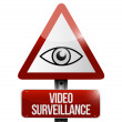 Video surveillance sign illustration design — Stock Photo #41173723