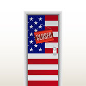 Door to the us closed. illustration design — Stock Photo
