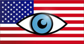 Usa under surveillance illustration design — Stock Photo