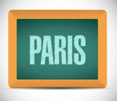 Paris sign written on a chalkboard. — Stock Photo