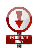 Productivity down sign illustration design — Stock Photo