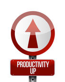 Productivity up sign illustration design — Stock Photo