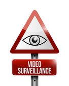 Video surveillance sign illustration design — Foto de Stock