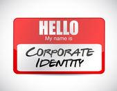 Corporate identity name tag illustration design — Stock Photo