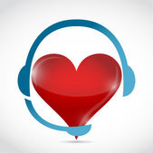 Headphones and heart. illustration design — Stock Photo