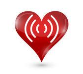 Heart pulse illustration design — Stock Photo