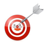 Selected target candidate illustration design — Stock Photo