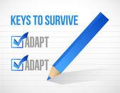 Keys to survive illustration design — Stock Photo