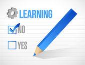 Learning check mark illustration design — Stock Photo