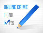 Yes online crime check mark illustration — Stock Photo