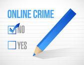 No online crime check mark illustration — Stock Photo