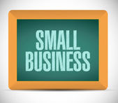 Small business message illustration design — Stock Photo