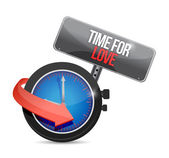 Time for love concept illustration design — Stock Photo