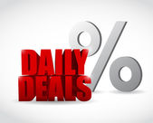 Daily deals percentage sign illustration design — Stock Photo