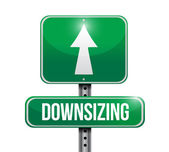 Downsizing street sign illustration design — Stock Photo