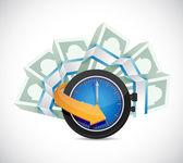 Time is money concept illustration design — Stock Photo