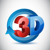 3d cycle sign illustration design — Stock Photo