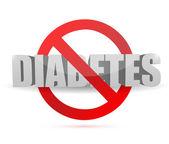 No diabetes sign illustration design — Stockfoto