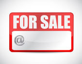 For sale tag illustration design — Stockfoto