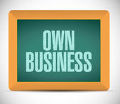 Own business message written on a chalkboard. — Stock Photo