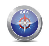 Compass to great ideas illustration design — Stock Photo