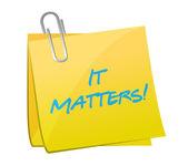 It matters post message illustration design — Stock Photo